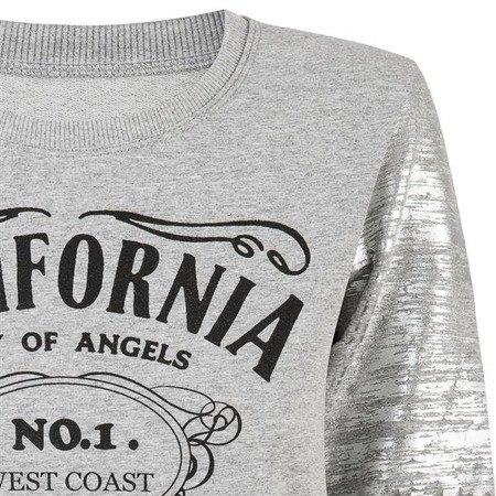 BLUZA Z NADRUKAMI SZARA (CALIFORNIA)