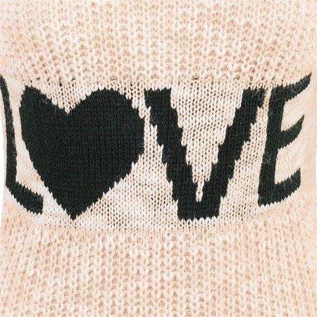 RÓŻOWY SWETER Z NAPISEM LOVE (SW08)